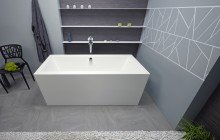 Purescape 026 freestanding acrylic bathtub by Aquatica 01 (web)