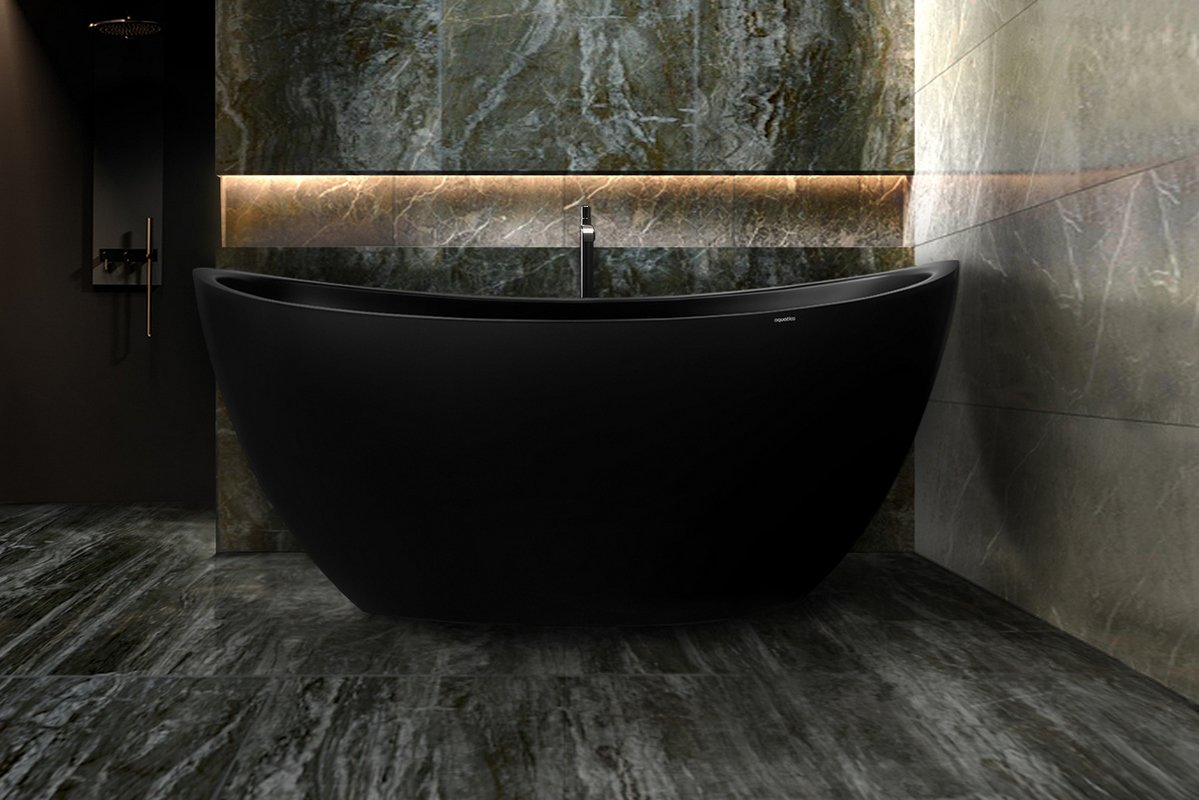 Aquatica purescape 171m blck freestanding solid surface bathtub customer photos 02