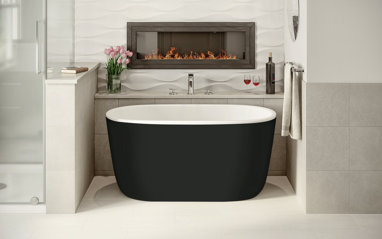 Lullaby Nano Black Wht Small Freestanding Solid Surface Bathtub by Aquatica (1 2) (web)
