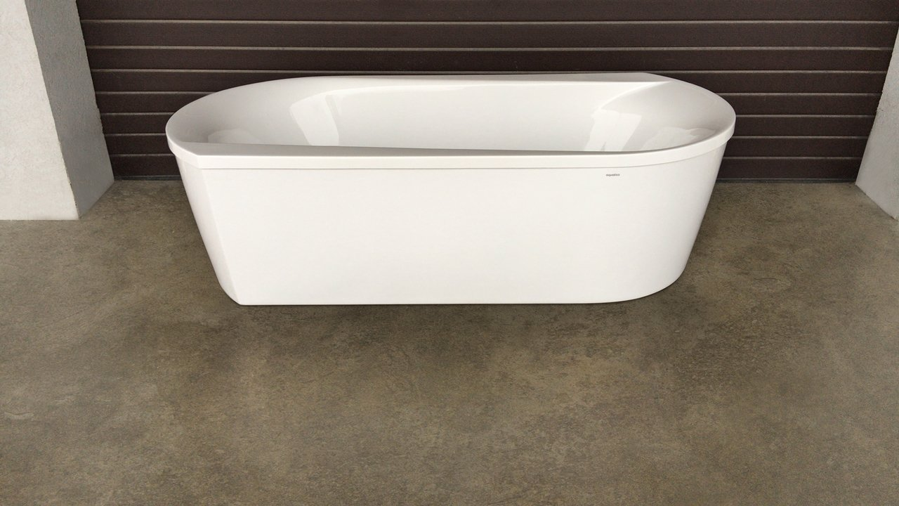 Purescape 107 Wht Freestanding Acrylic Bathtub customer images 01 (web)
