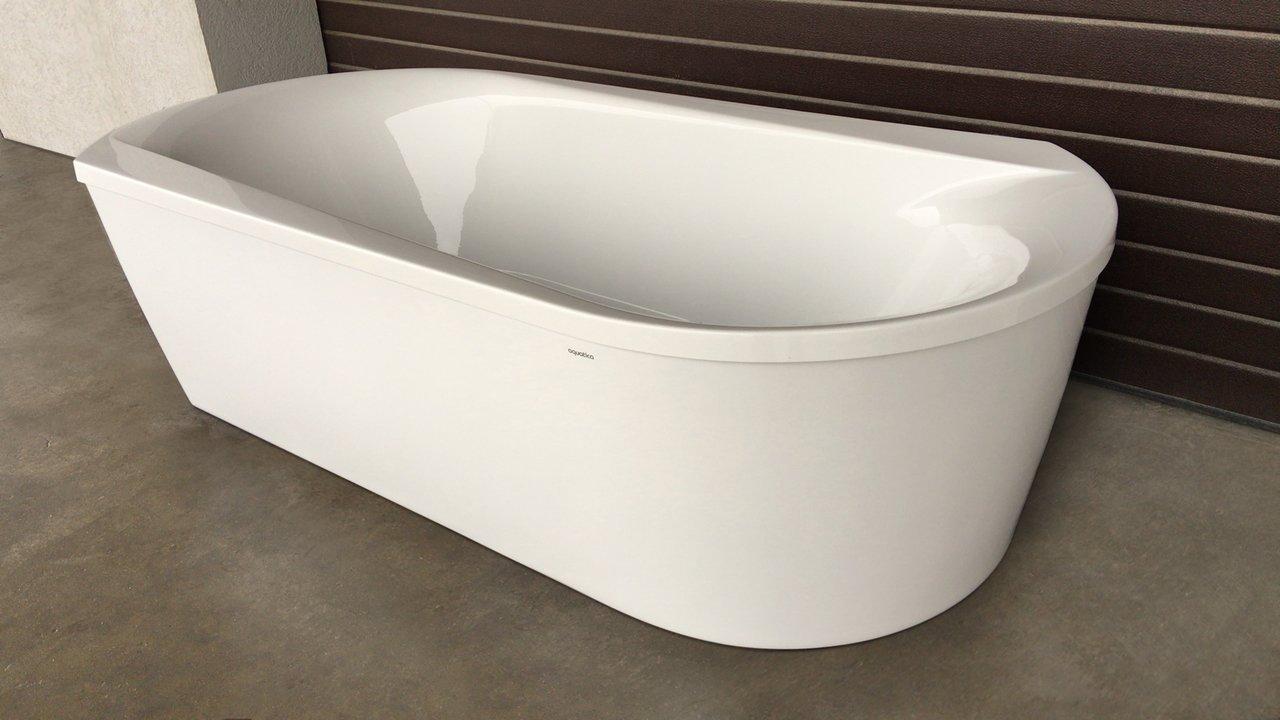 Purescape 107 Wht Freestanding Acrylic Bathtub customer images 03 (web)