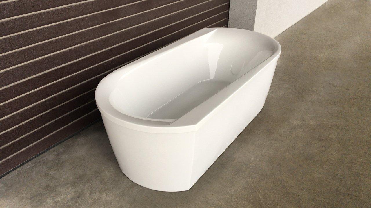 Purescape 107 Wht Freestanding Acrylic Bathtub customer images 04 (web)