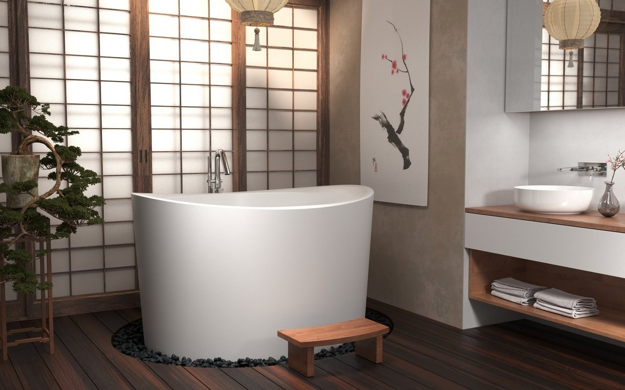 True Ofuro Duo Freestanding Stone Japanese Soaking Bathtub 02 (web)
